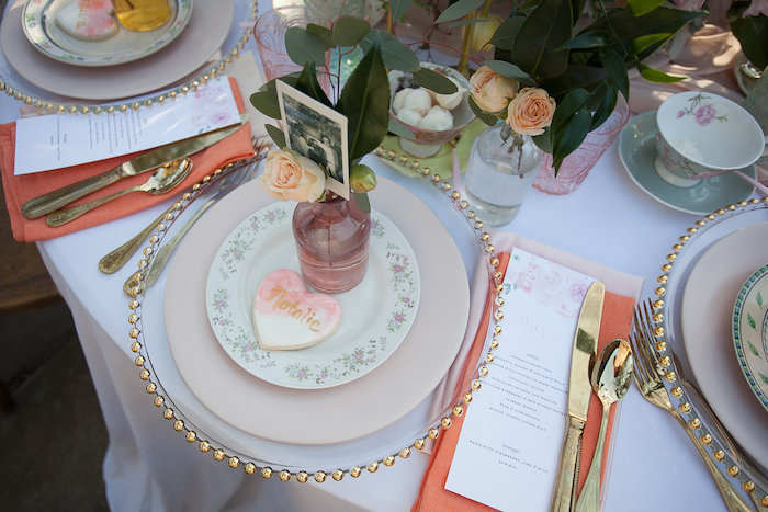 Elegant Floral + Gold Table Setting from a Mother's Day Garden Brunch on Kara's Party Ideas | KarasPartyIdeas.com (27)