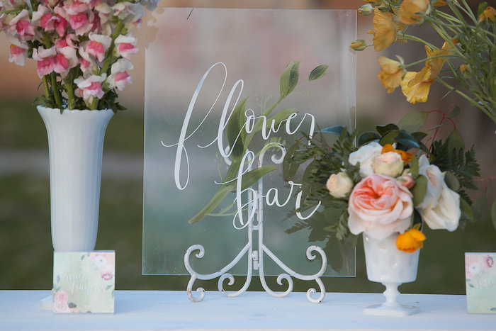 Acrylic Flower Bar Sign from a Mother's Day Garden Brunch on Kara's Party Ideas | KarasPartyIdeas.com (9)
