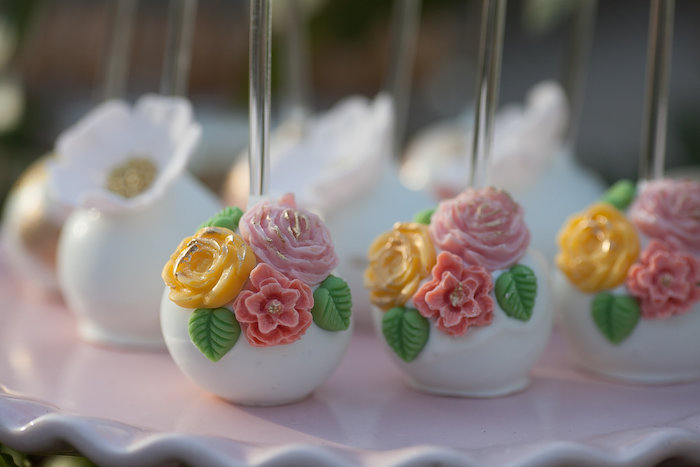Tri-Flower Cake Pops from a Mother's Day Garden Brunch on Kara's Party Ideas | KarasPartyIdeas.com (39)