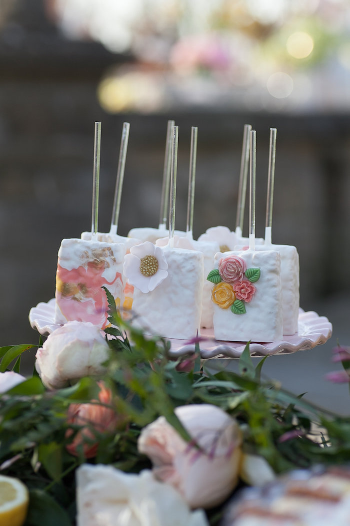 Floral Themed Rice Krispie Treat Pops from a Mother's Day Garden Brunch on Kara's Party Ideas | KarasPartyIdeas.com (37)