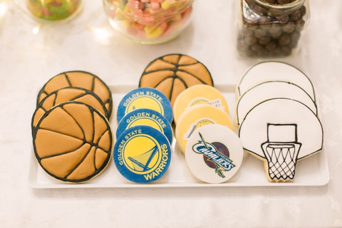 NBA Basketball Themed Sugar Cookies from an NBA Basketball Birthday Party on Kara's Party Ideas | KarasPartyIdeas.com (23)