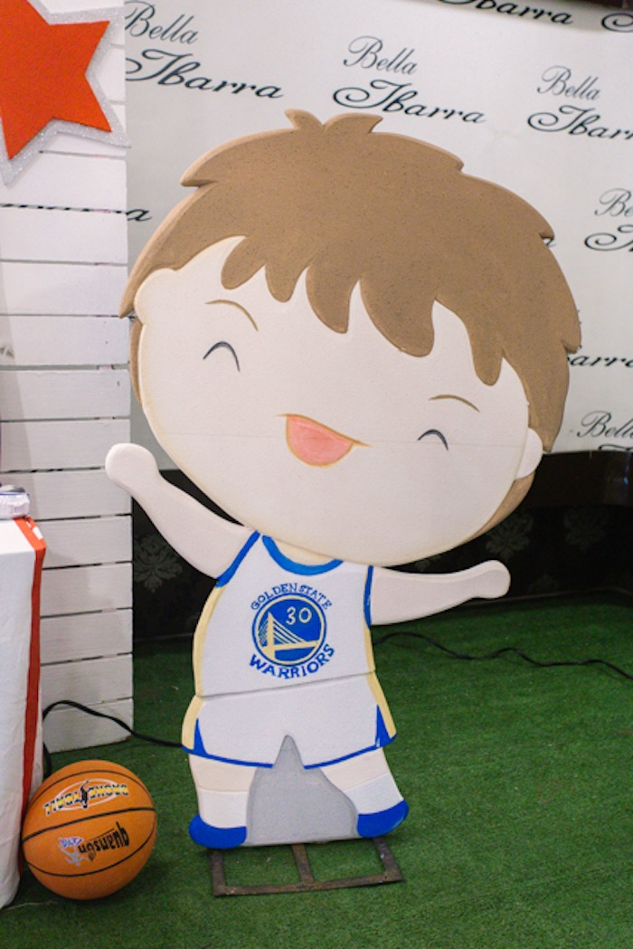 Basketball Player Standee from a NBA Basketball Birthday Party on Kara's Party Ideas | KarasPartyIdeas.com (11)