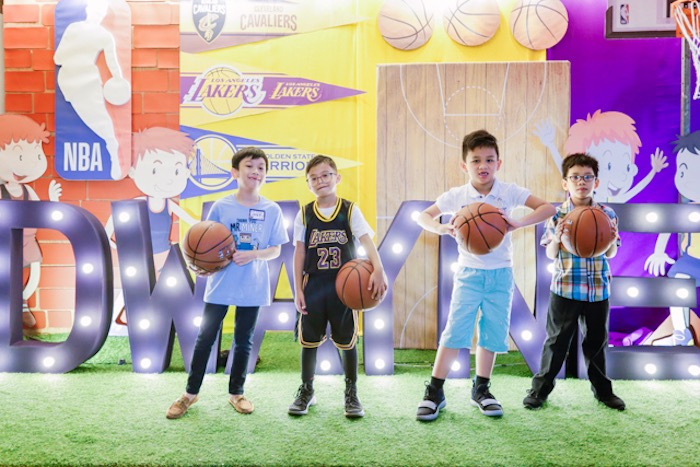 NBA Basketball Birthday Party on Kara's Party Ideas | KarasPartyIdeas.com (4)