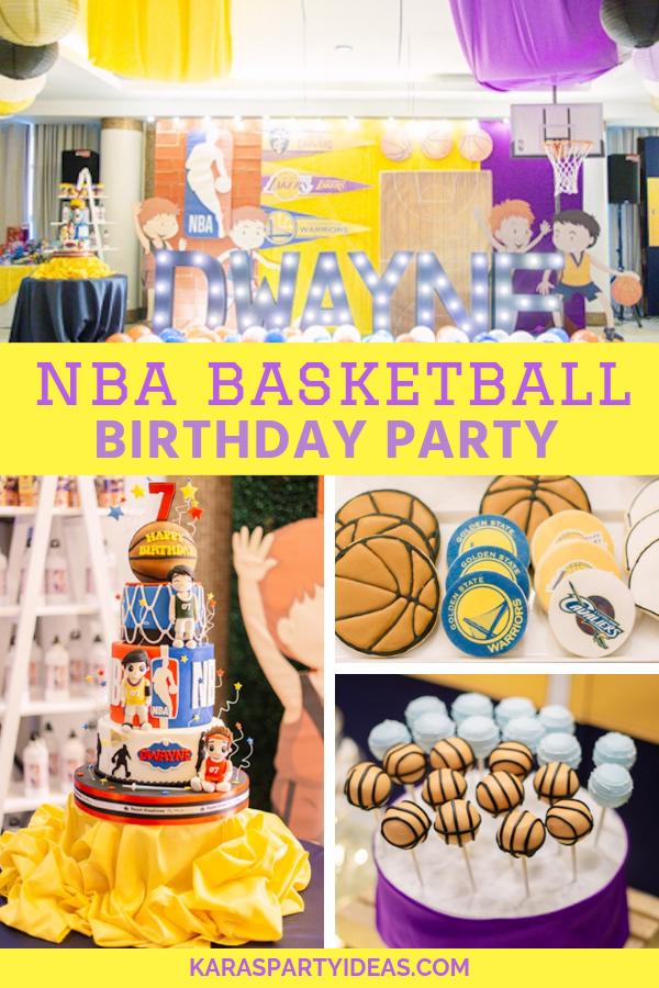 Marvelous Karas Party Ideas Nba Basketball Birthday Party Karas Party Ideas Funny Birthday Cards Online Benoljebrpdamsfinfo