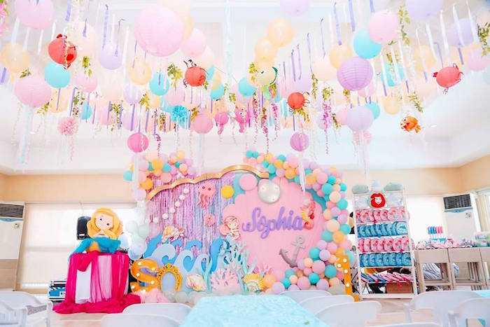 Pastel Mermaid Birthday Party on Kara's Party Ideas | KarasPartyIdeas.com (7)