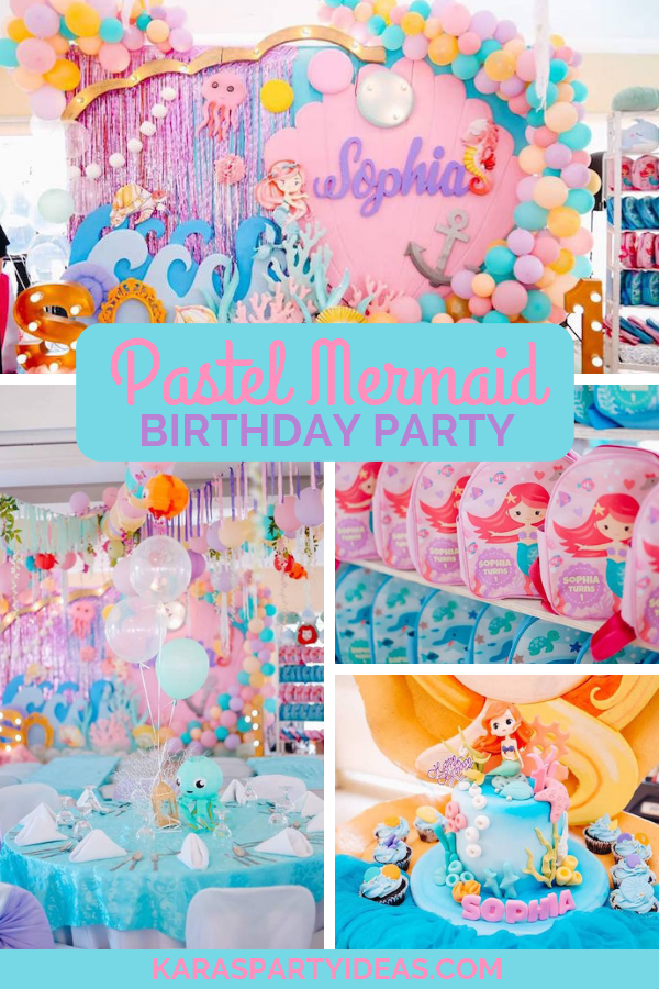 Pastel Mermaid Birthday Party via Kara's Party Ideas - KarasPartyIdeas.com