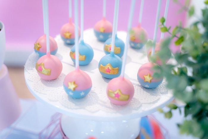 Brilliant Karas Party Ideas Pastel Wonder Woman Birthday Party Karas Personalised Birthday Cards Sponlily Jamesorg