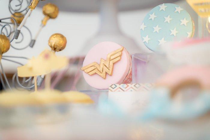 Brilliant Karas Party Ideas Pastel Wonder Woman Birthday Party Karas Personalised Birthday Cards Vishlily Jamesorg