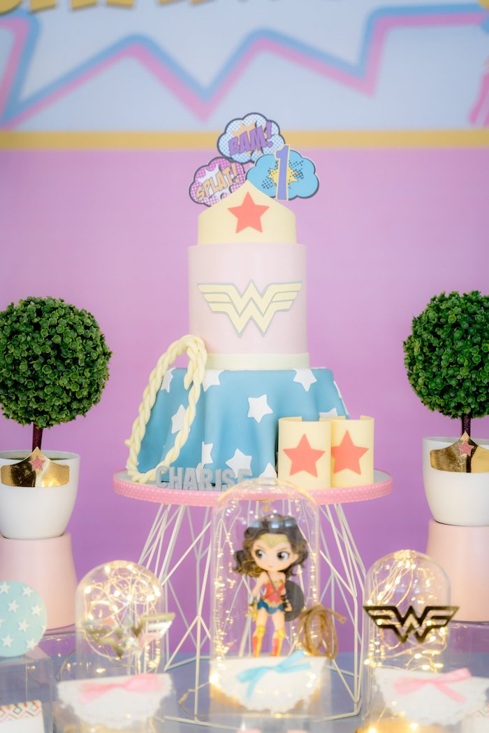 Magnificent Karas Party Ideas Pastel Wonder Woman Birthday Party Karas Birthday Cards Printable Benkemecafe Filternl