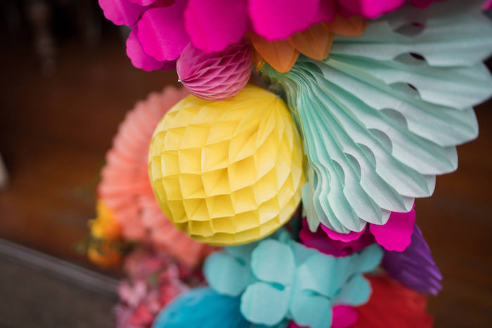 Tissue Paper Decorations from a Peruvian Alpaca Inspired Wedding on Kara's Party Ideas | KarasPartyIdeas.com (30)