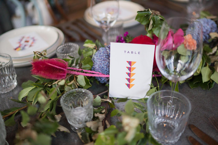 Table Number from a Peruvian Alpaca Inspired Wedding on Kara's Party Ideas | KarasPartyIdeas.com (28)