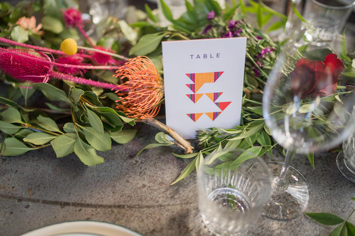 Table Number from a Peruvian Alpaca Inspired Wedding on Kara's Party Ideas | KarasPartyIdeas.com (26)