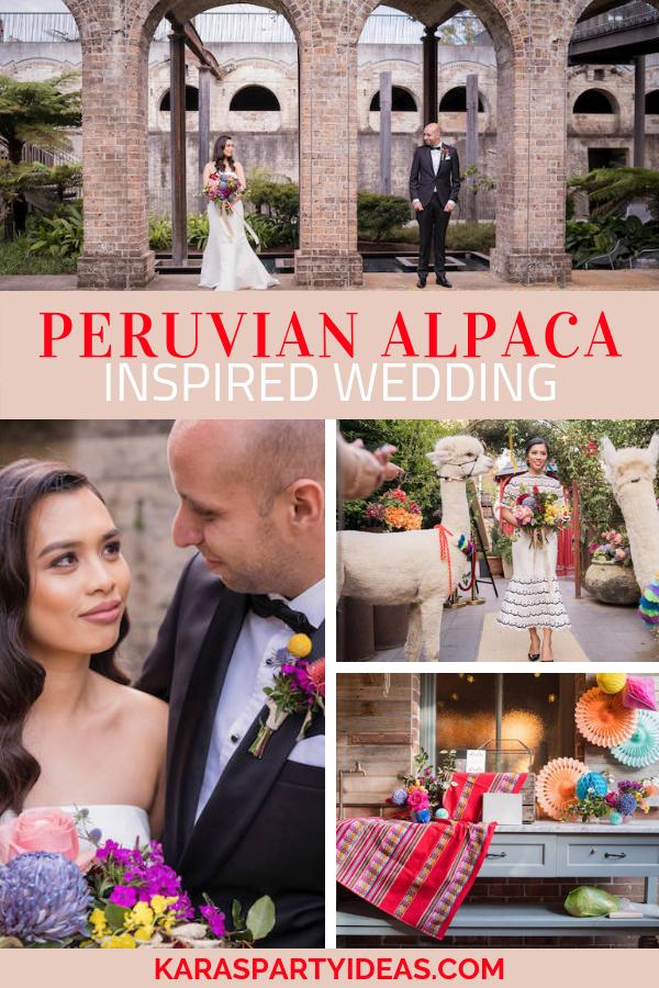 Peruvian Alpaca Inspired Wedding via KarasPartyIdeas - KarasPartyIdeas.com