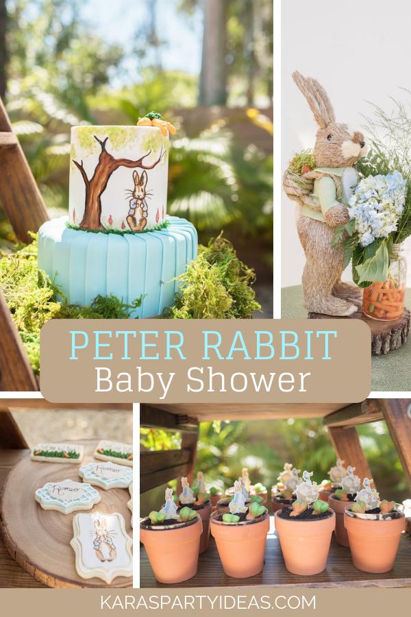Peter Rabbit Baby Shower Party via Kara's Party Ideas - KarasPartyIdeas.com