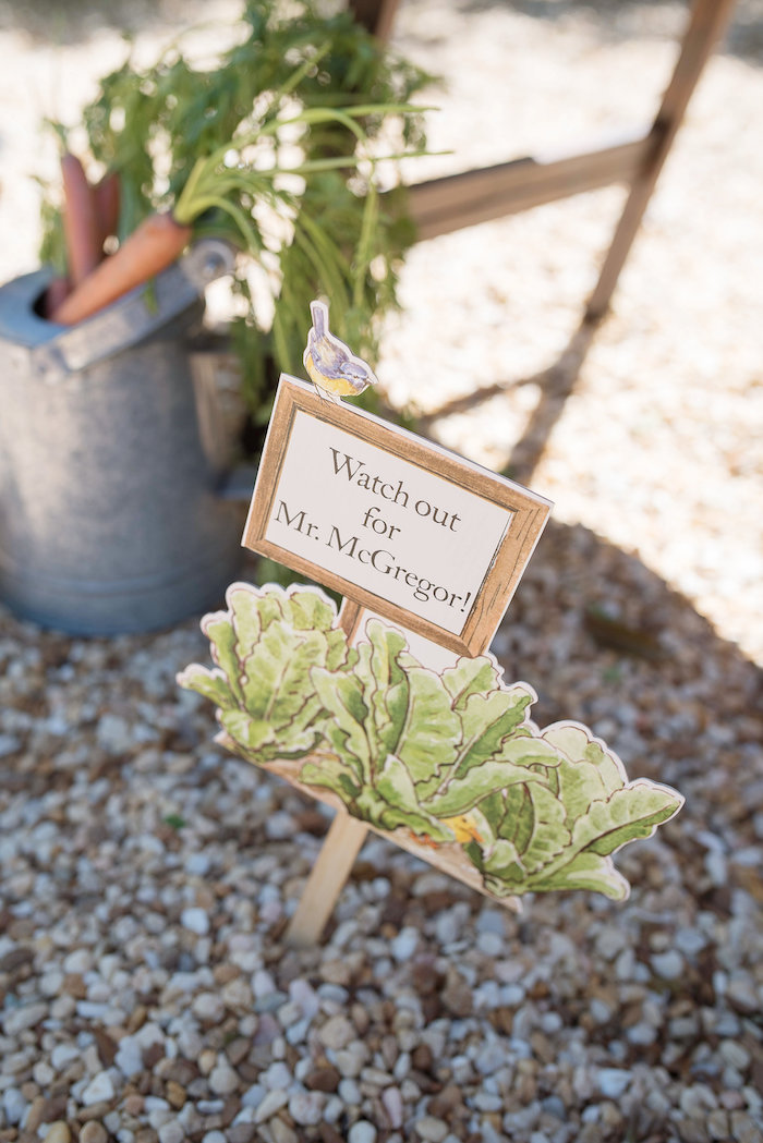 Mr. McGregor's Garden Sign from a Peter Rabbit Baby Shower on Kara's Party Ideas | KarasPartyIdeas.com (28)