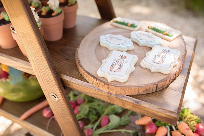 Peter Rabbit-inspired Sugar Cookies from a Peter Rabbit Baby Shower on Kara's Party Ideas | KarasPartyIdeas.com (25)