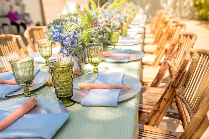 Peter Rabbit-inspired Garden Table Settings from a Peter Rabbit Baby Shower on Kara's Party Ideas | KarasPartyIdeas.com (20)