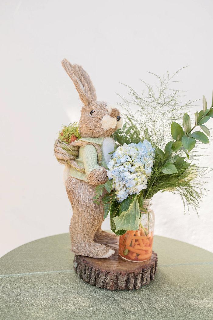 Peter Rabbit-inspired Garden Table Centerpiece from a Peter Rabbit Baby Shower on Kara's Party Ideas   KarasPartyIdeas.com (11)