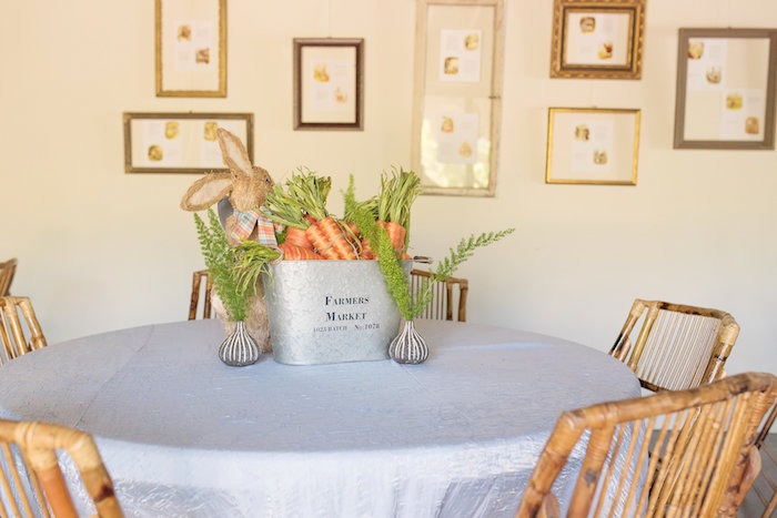 Peter Rabbit-inspired Garden Guest Table from a Peter Rabbit Baby Shower on Kara's Party Ideas | KarasPartyIdeas.com (9)