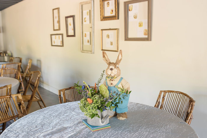 Peter Rabbit-inspired Guest Table from a Peter Rabbit Baby Shower on Kara's Party Ideas | KarasPartyIdeas.com (7)