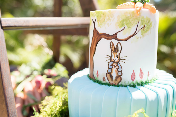 Peter Rabbit-inspired Cake from a Peter Rabbit Baby Shower on Kara's Party Ideas | KarasPartyIdeas.com (35)
