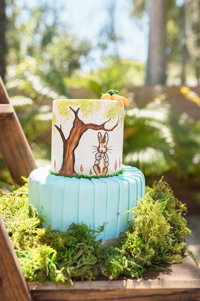 Peter Rabbit Cake from a Peter Rabbit Baby Shower on Kara's Party Ideas | KarasPartyIdeas.com (34)