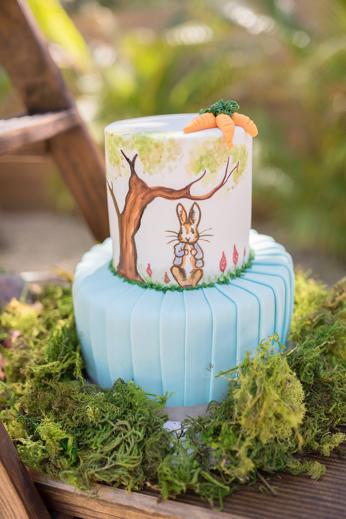 Peter Rabbit Cake from a Peter Rabbit Baby Shower on Kara's Party Ideas | KarasPartyIdeas.com (31)