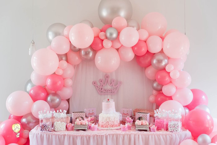 Princess Themed Dessert Table from a Pink Princess Birthday Party on Kara's Party Ideas | KarasPartyIdeas.com (14)