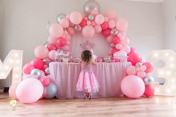 Pink Princess Birthday Party on Kara's Party Ideas | KarasPartyIdeas.com (11)
