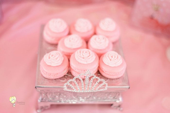 Pink Rose Macarons from a Pink Princess Birthday Party on Kara's Party Ideas | KarasPartyIdeas.com (10)