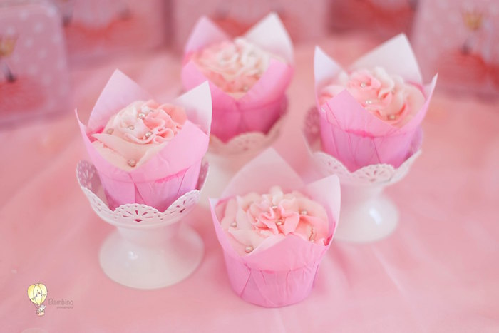 Princess-inspired Cupcakes from a Pink Princess Birthday Party on Kara's Party Ideas | KarasPartyIdeas.com (8)