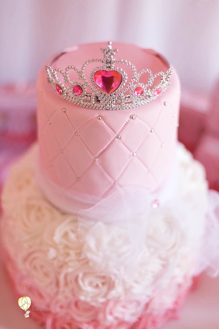 Princess Cake from a Pink Princess Birthday Party on Kara's Party Ideas | KarasPartyIdeas.com (22)
