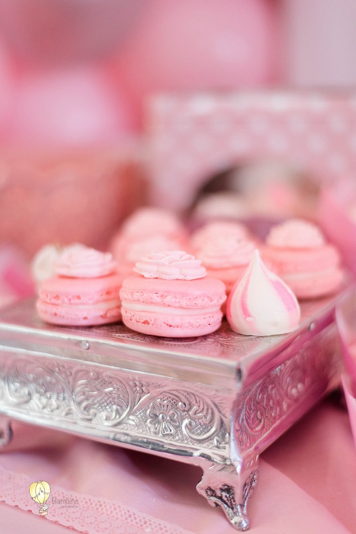 Macarons & Meringues from a Pink Princess Birthday Party on Kara's Party Ideas | KarasPartyIdeas.com (21)