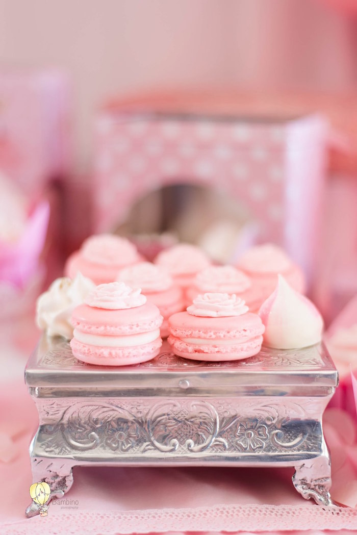 Macarons and Meringues from a Pink Princess Birthday Party on Kara's Party Ideas | KarasPartyIdeas.com (19)