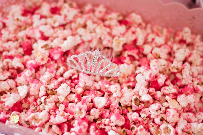Pink Popcorn from a Pink Princess Birthday Party on Kara's Party Ideas | KarasPartyIdeas.com (17)