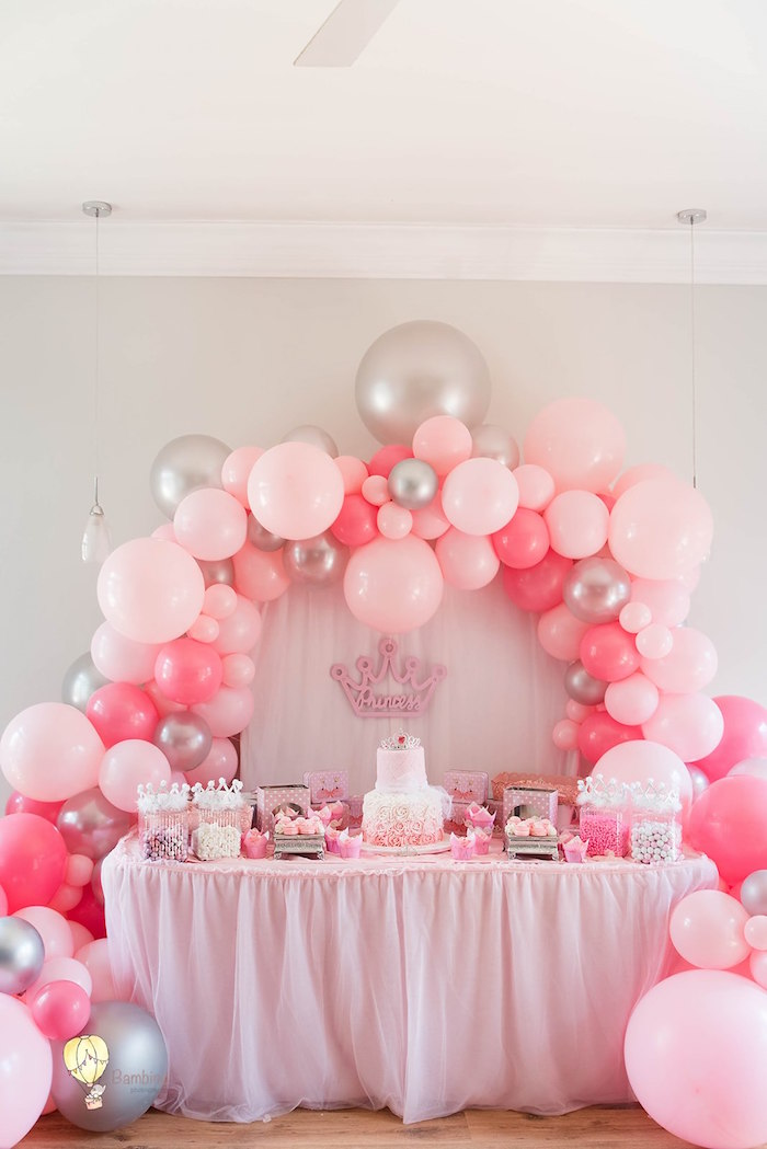 Princess Themed Dessert Table from a Pink Princess Birthday Party on Kara's Party Ideas | KarasPartyIdeas.com (16)