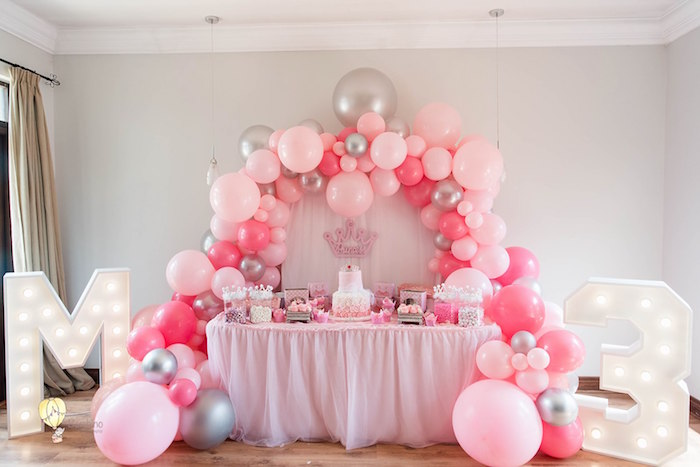 Princess Dessert Table from a Pink Princess Birthday Party on Kara's Party Ideas | KarasPartyIdeas.com (15)