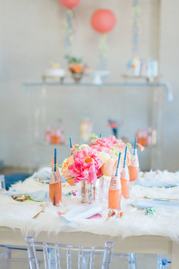Guest Tablescape from a Pretty Alpaca Party on Kara's Party Ideas | KarasPartyIdeas.com (30)