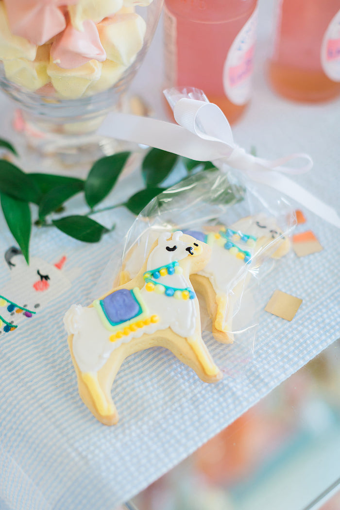 Alpaca Cookies from a Pretty Alpaca Party on Kara's Party Ideas | KarasPartyIdeas.com (22)
