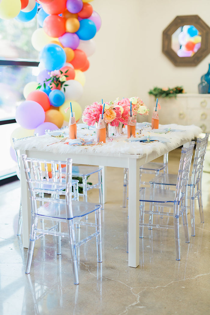 Fur-topped Party Table from a Pretty Alpaca Party on Kara's Party Ideas | KarasPartyIdeas.com (39)
