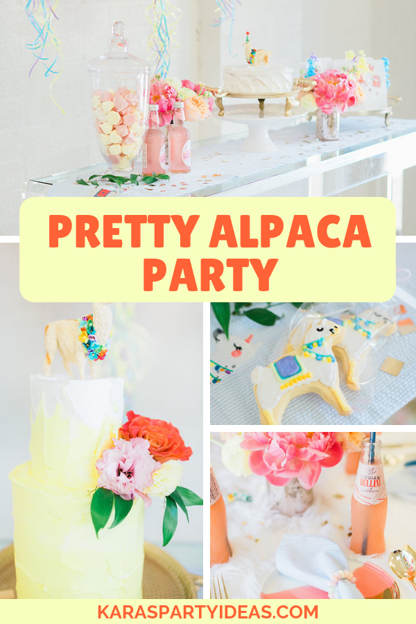 Pretty Alpaca Party via Kara's Party Ideas - KarasPartyIdeas.com