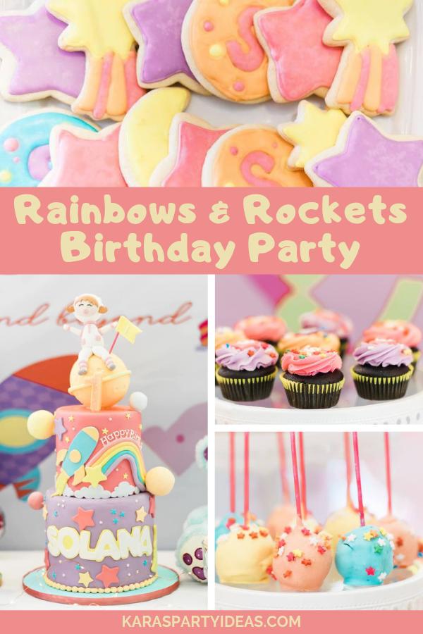 Rainbows & Rockets Birthday Party via Kara's Party Ideas - KarasPartyIdeas.com