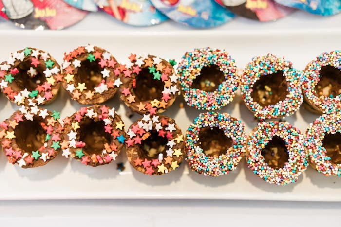 Sprinkled Waffle Cups from a Rainbows and Rockets Birthday Party on Kara's Party Ideas | KarasPartyIdeas.com (31)