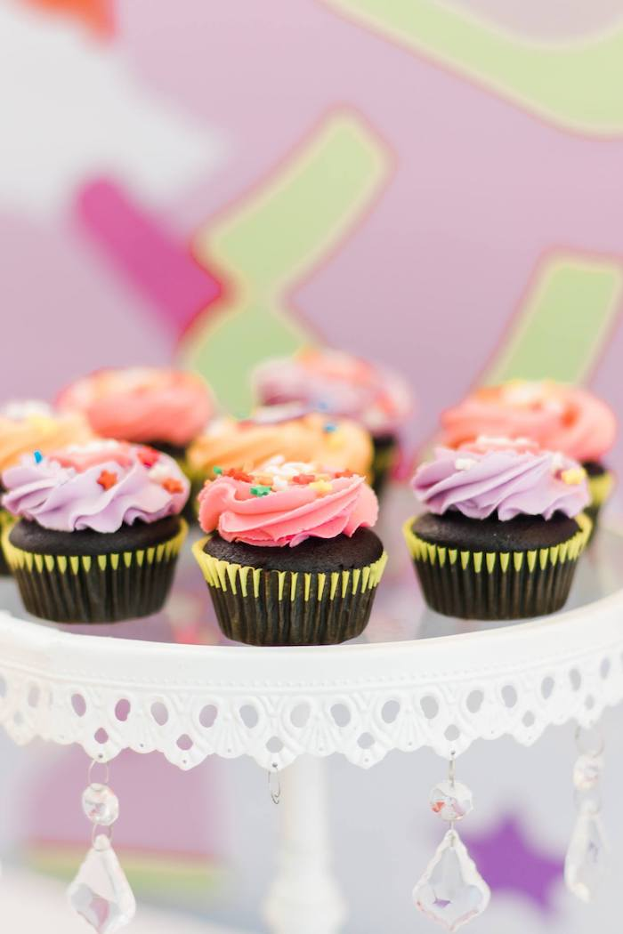 Cupcakes from a Rainbows and Rockets Birthday Party on Kara's Party Ideas | KarasPartyIdeas.com (12)