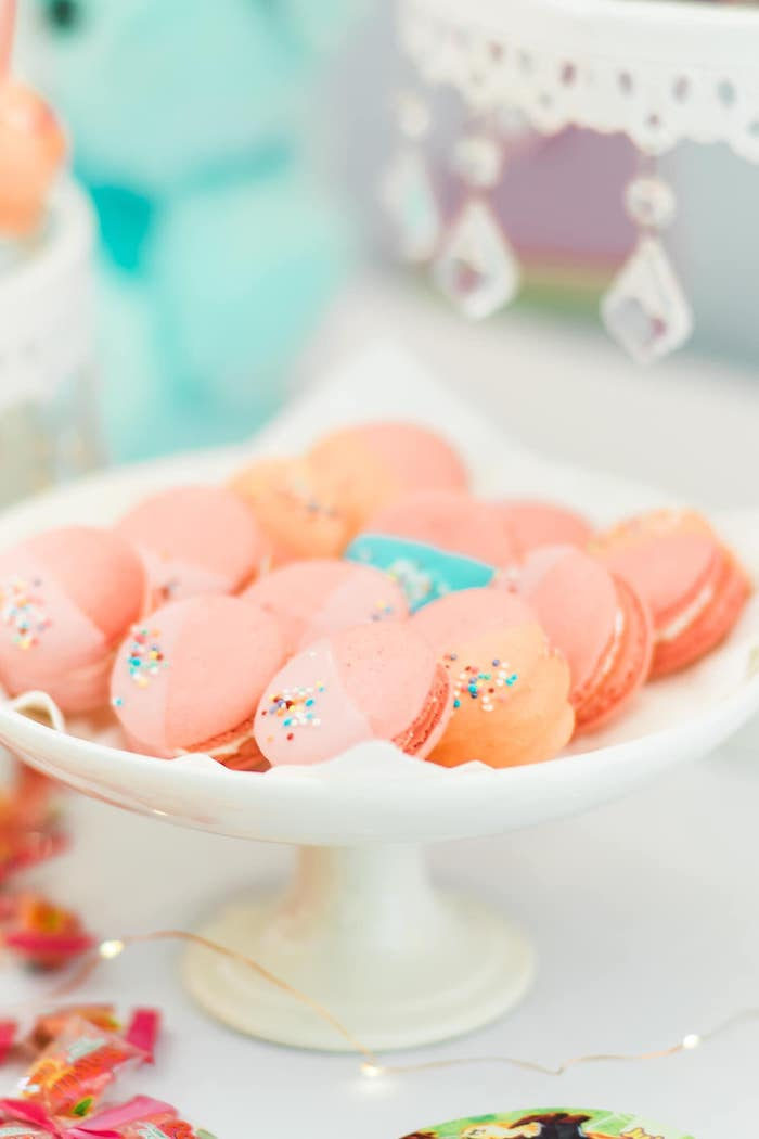 Two-toned Macarons from a Rainbows and Rockets Birthday Party on Kara's Party Ideas | KarasPartyIdeas.com (35)