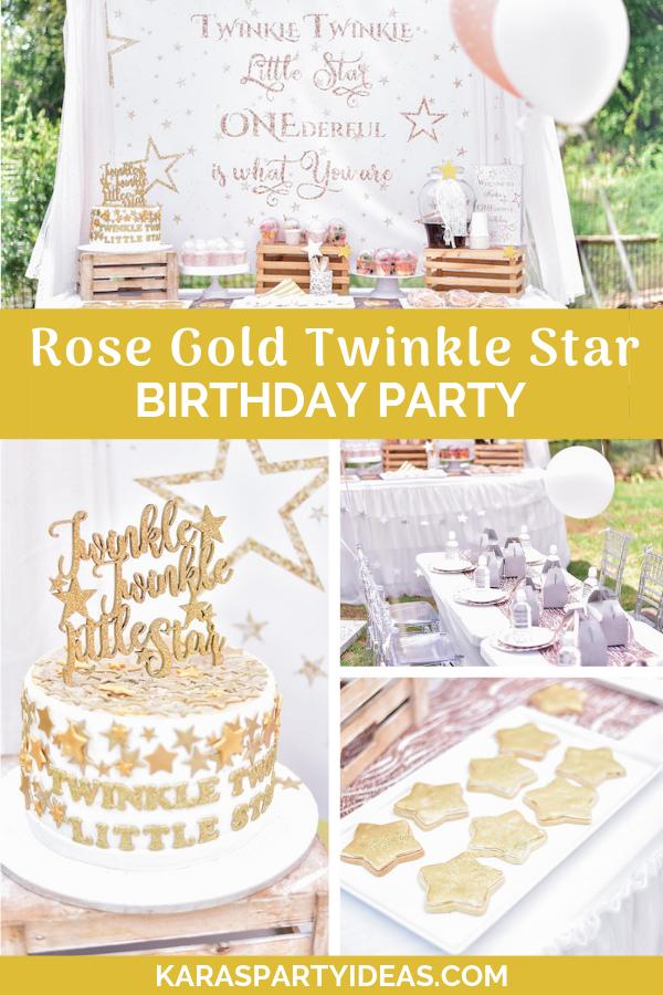 Rose Gold Twinkle Star Birthday Party via Kara's Party Ideas - KarasPartyIdeas.com