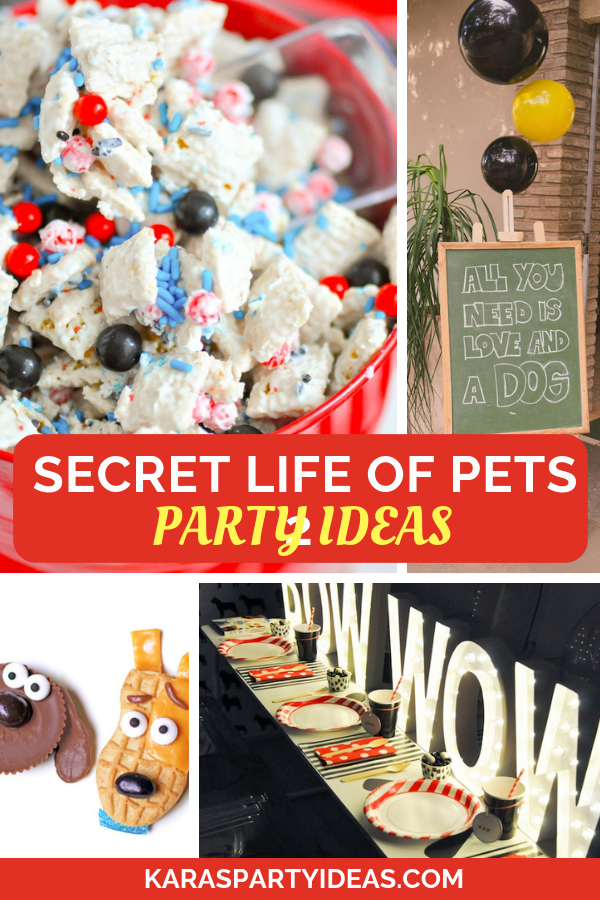 Secret life of pets 2 party ideas via Kara's Party Ideas - KarasPartyIdeas.com