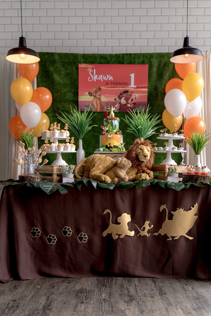 Simba & Friends Lion King Birthday Party on Kara's Party Ideas | KarasPartyIdeas.com (11)