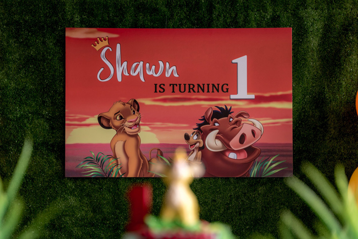 Lion King Party Signage from a Simba & Friends Lion King Birthday Party on Kara's Party Ideas | KarasPartyIdeas.com (17)