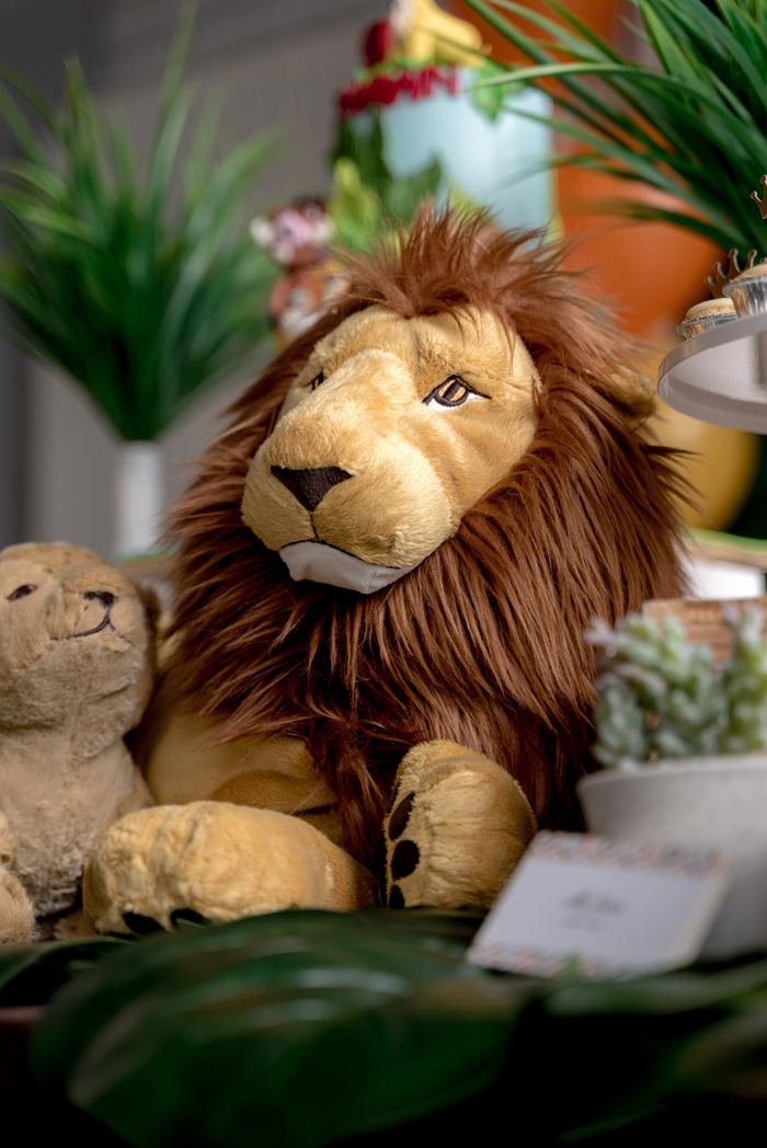 Plush Lion Decoration from a Simba & Friends Lion King Birthday Party on Kara's Party Ideas | KarasPartyIdeas.com (14)